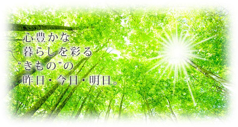 """心豊かな 暮らしを彩る """"きもの""""の 昨日・今日・明日。"""